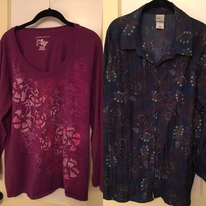 JMS 2 for 1 price Blouse and tunic size 2X